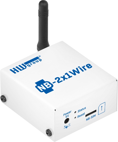 MCS HWg NB-IoT 2x1Wire - remote temperatuur monitoring