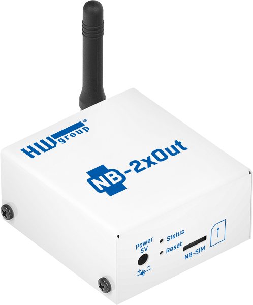 MCS HWg NB-IoT 2xout - digital output monitoring