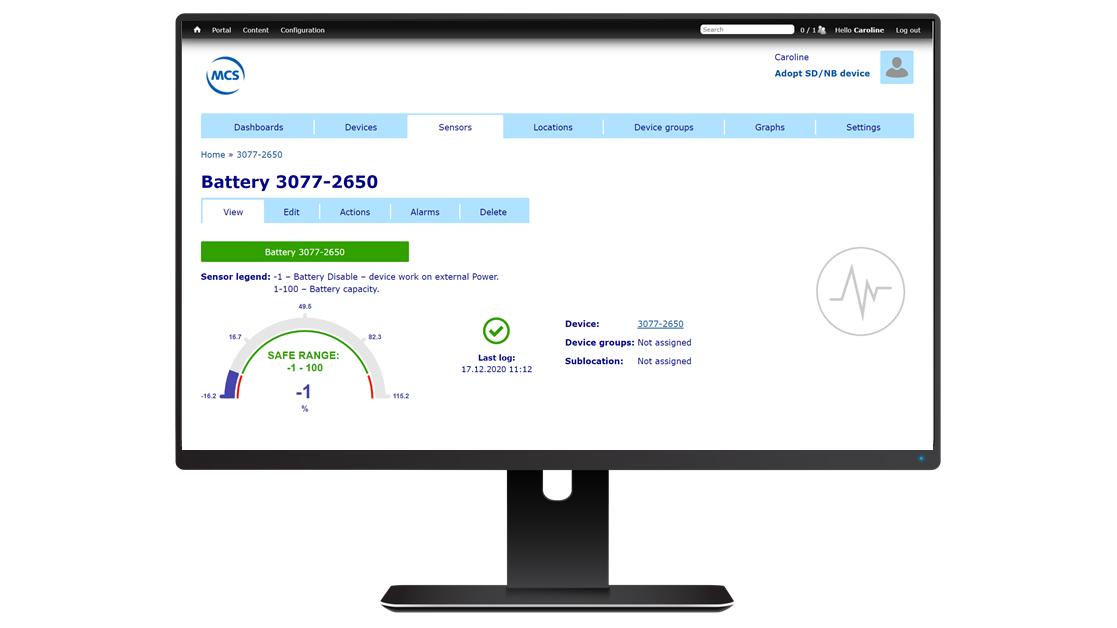 SensDesk Portal computer met veilige limieten